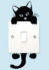 Наклейка на вимикач №1 Кошеня