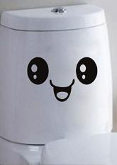 Наклейка інтер'єрна №4 Smile для ванної, стін, унітазу та ін.