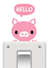 Наклейка на вимикач Hello Piggy
