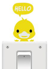Наклейка на вимикач Hello Duck