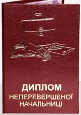 Диплом НЕПЕРЕВЕРШЕНОЇ НАЧАЛЬНИЦІ (11х16см. укр.м.)