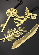 Закладки для книжок металеві №3 GOLD