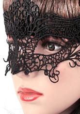 Маска ажурна чорна №4 (маски для вечірок)