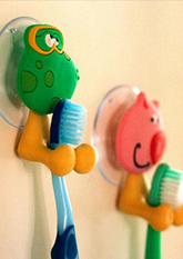 Тримач для зубних щіток Веселі тваринки (для ванної кімнати)