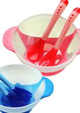 Комплект дитячого посуду (тарілка + ложка + виделка)
