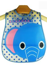 Нагрудник, слинявчик для малюків на липучці, з кишенькою, для годування і творчості