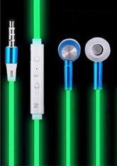 Навушники з мікрофоном, світяться в темряві Glow In The Dark №3