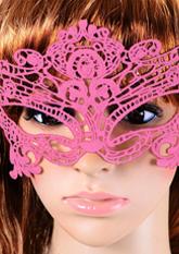 Маска ажурна рожева №6 (маски для вечірок)
