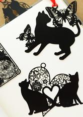 Закладки для книжок металеві Black CAT (в асортименті)