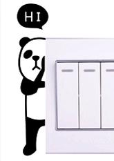Наклейка на вимикач №6 ПАНДА