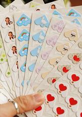 Комплект крафт-куточків для фото, листівок №2 ДИТЯЧІ (24шт)