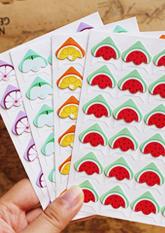 Комплект крафт-куточків для фото, листівок №3 ФРУКТИ (24шт)