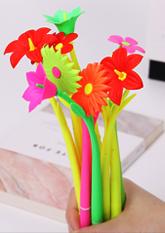 Ручка гелева FLOWER (різні кольори)
