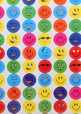 НЕМАЄ в наявності! Різнокольорові наклейки SMILE