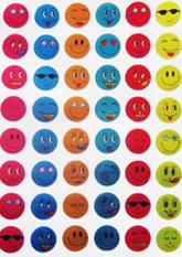 Різнокольорові наклейки SMILE №2