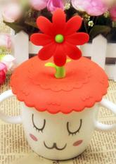 Силіконова кришка на чашку Flower (різні кольори)