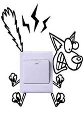 Наклейка на вимикач №10 Скажений ВОВК